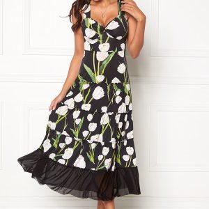 Chiara Forthi Alberta Tulip Dress Black   Floral XS (EU32 34) b73649d6e269b